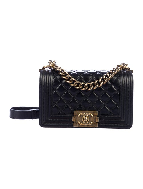 Chanel Small Quilted Boy Bag Black
