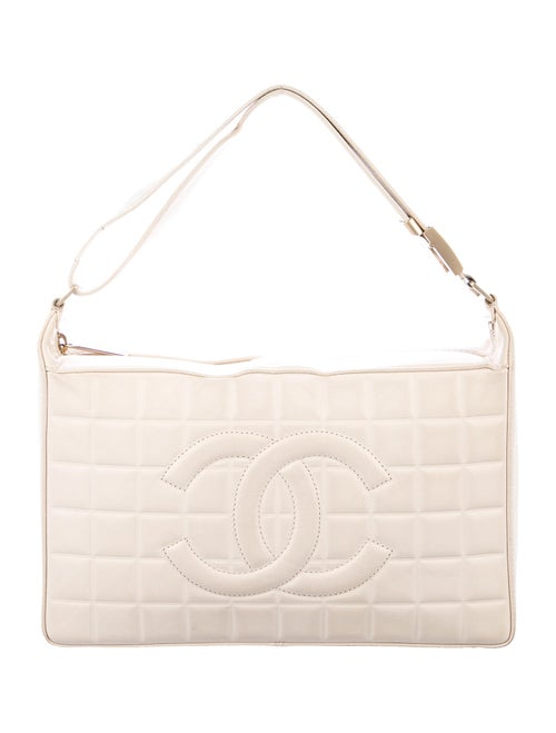 Chanel Chocolate Bar E/W Flap Bag gold