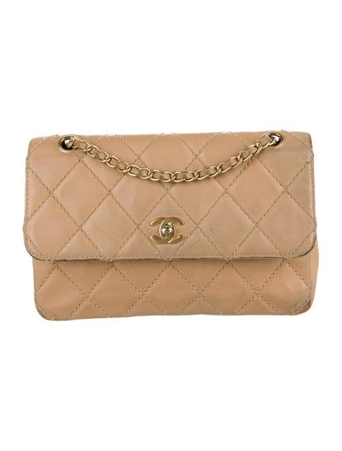 Chanel Surpique Flap Bag Tan