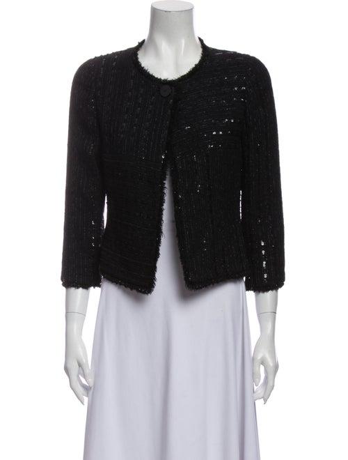 Chanel 2000 Tweed Pattern Evening Jacket Black