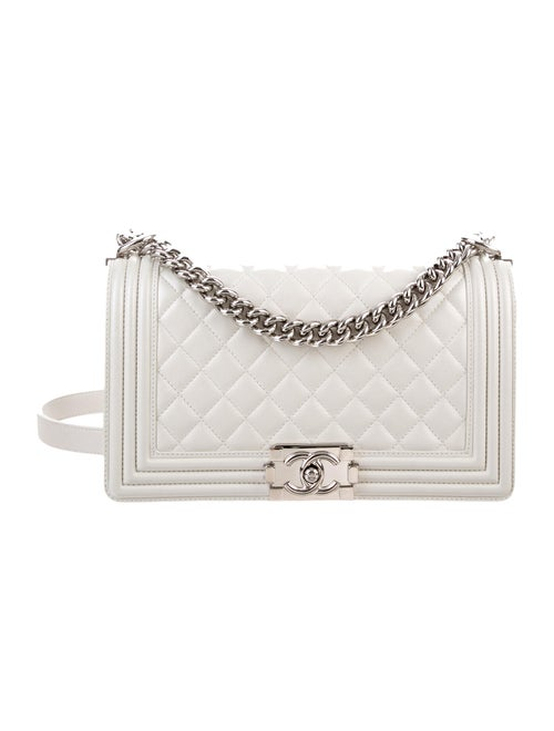 Chanel Medium Quilted Boy Bag Metallic