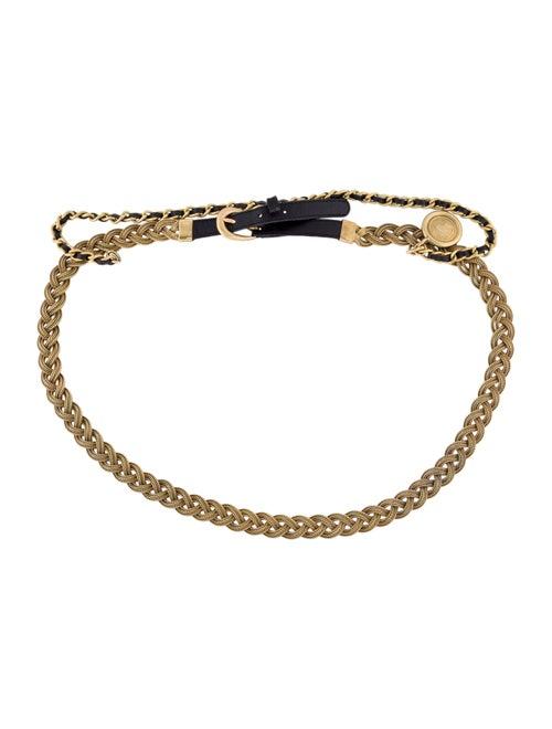 Chanel Vintage Chain-Link Belt Black