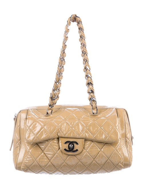 Chanel Large Day Glo Flap Bag Tan