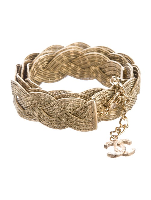 Chanel Woven Chain Belt Gold