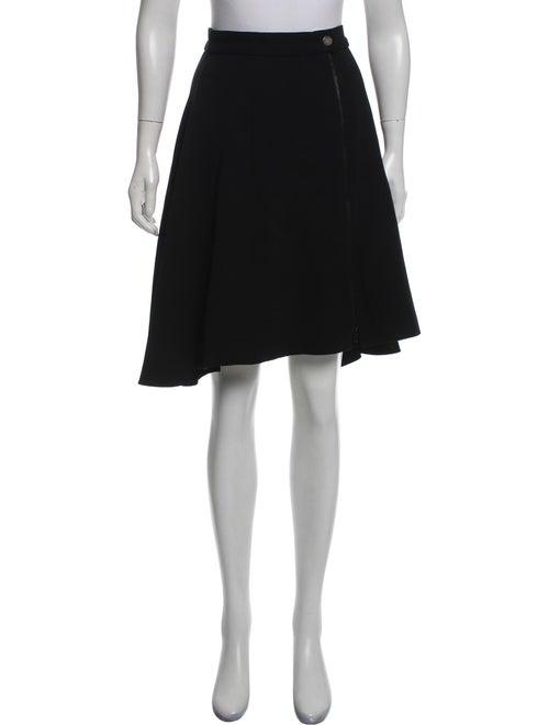 Chanel 2017 Silk Knee-Length Skirt w/ Tags Black