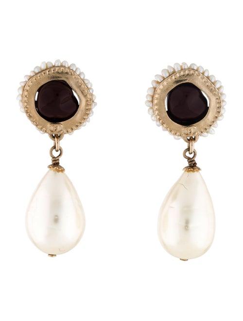 Chanel Pearl, Resin & Faux Pearl Clip-On Earrings
