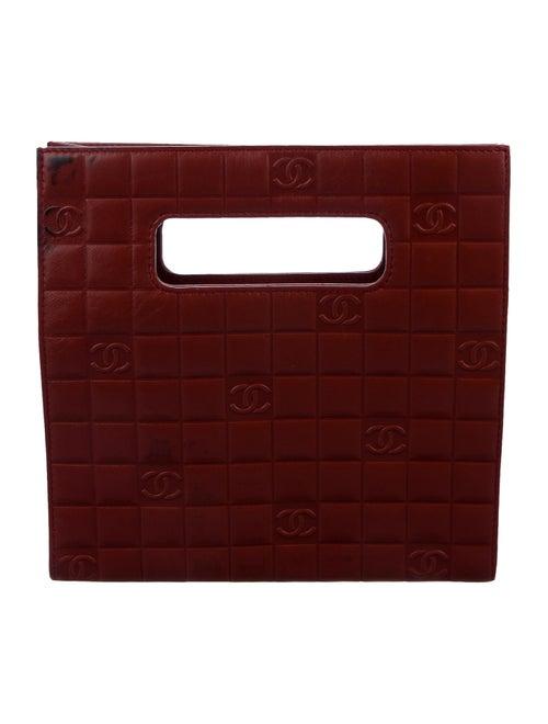Chanel CC Chocolate Bar Satchel Red