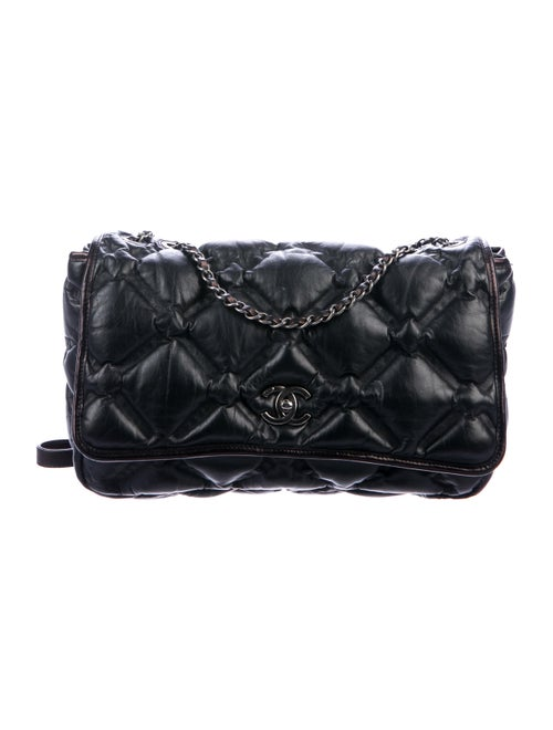 Chanel Large Chesterfield Flap Bag Black