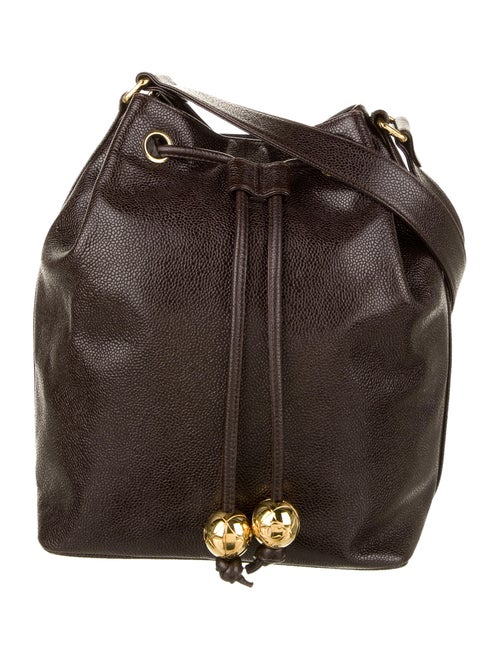 Chanel Vintage Caviar Bucket Bag gold