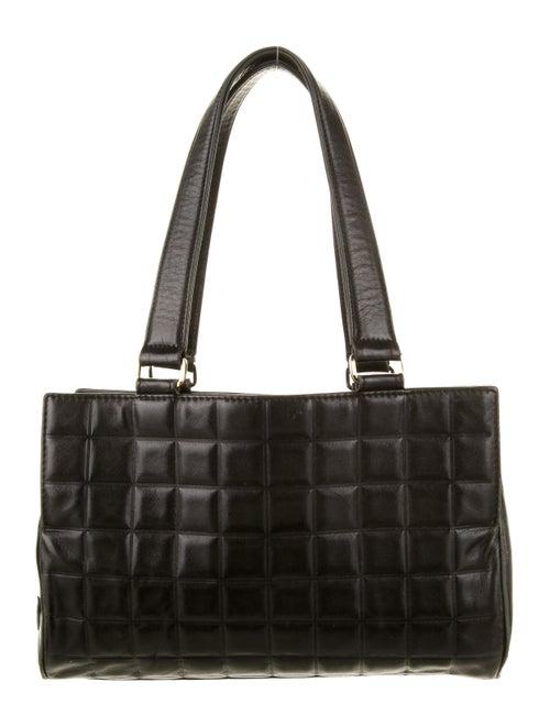 Chanel Vintage Chocolate Bar Bowler Bag Black