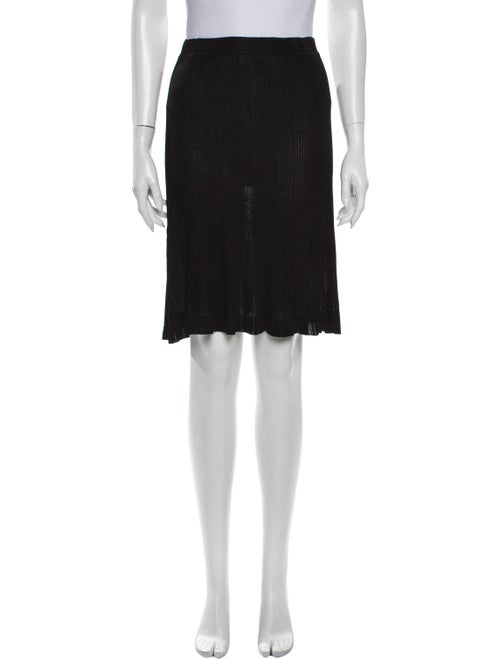 Chanel 1997 Knee-Length Skirt Black