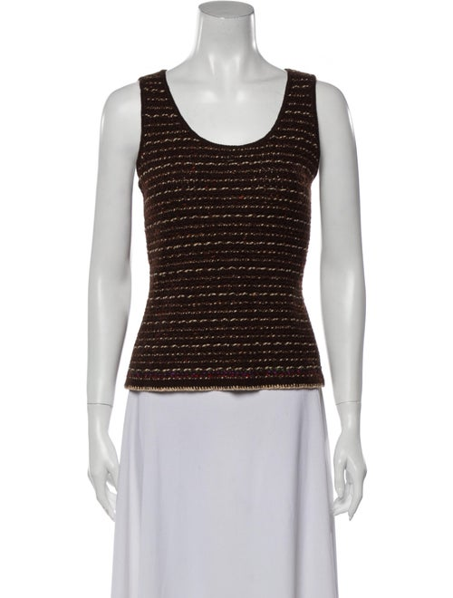 Chanel 1998 Cashmere Top Brown