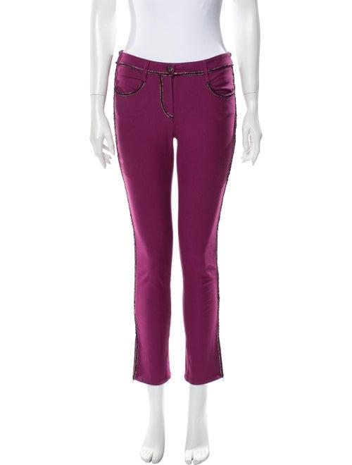 Chanel 2012 Skinny Leg Jeans Purple