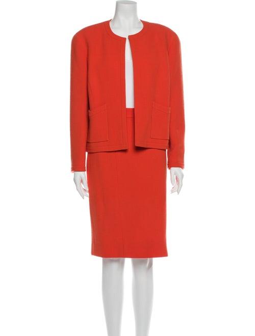 Chanel Chanel Boutique Skirt Suit Orange