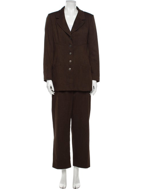 Chanel 1997 Chanel Boutique Pantsuit Brown