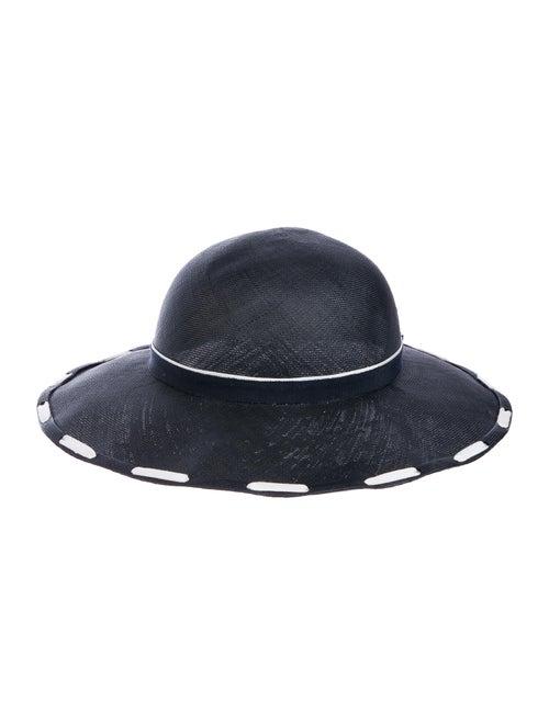 Chanel Straw Bow Hat Black