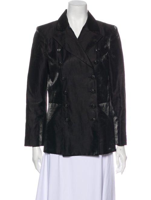 Chanel 2009 Linen Evening Jacket Black