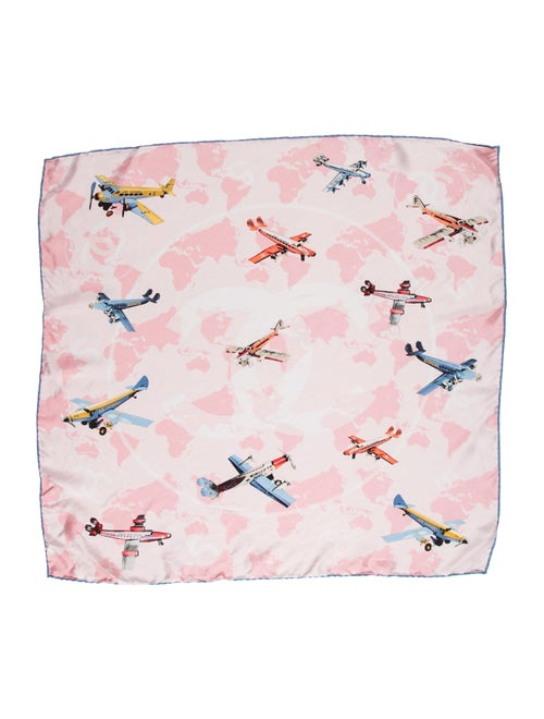 Chanel Air Chanel Silk Scarf multicolor