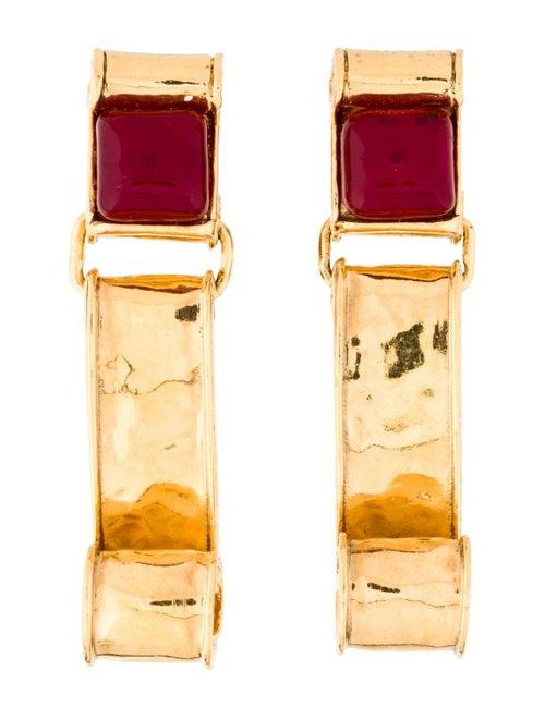 Chanel Gripoix Clip-On Earrings Gold