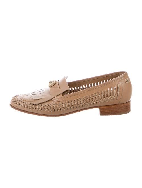 Chanel Interlocking CC Logo Lambskin Loafers