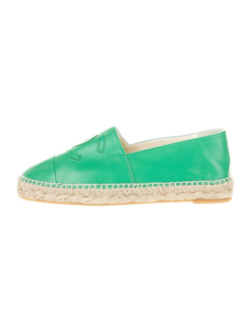 Chanel CC Lambskin Espadrilles Leather Espadrilles