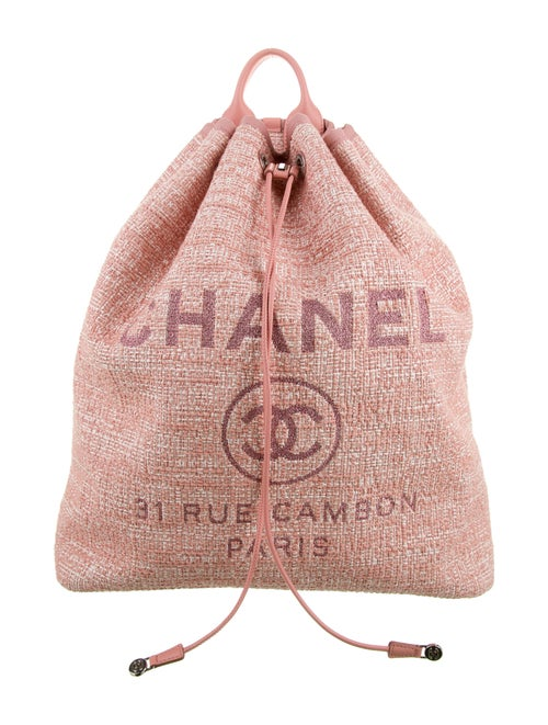 Chanel 2018 Deauville Backpack Pink