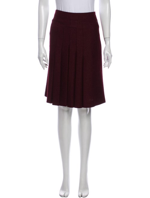 Chanel Pleated Accents Knee-Length Skirt