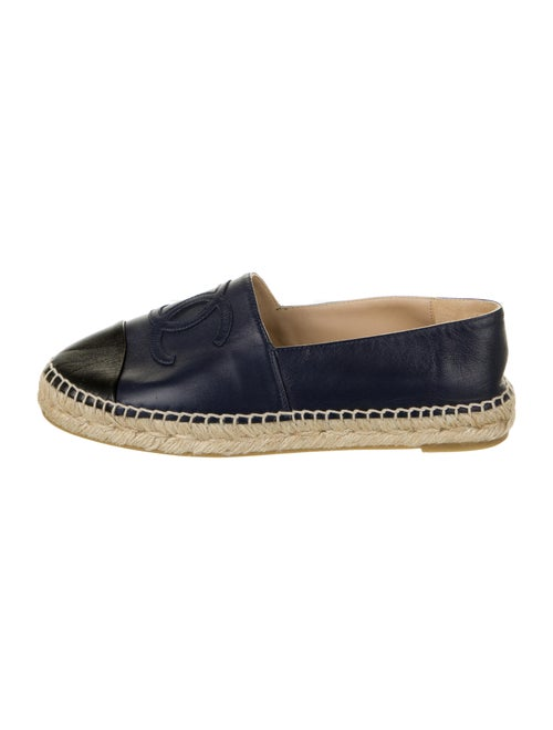 Chanel Lambskin CC Espadrilles Leather Espadrilles