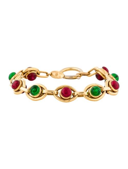 Chanel Vintage Gripoix Link Bracelet Gold
