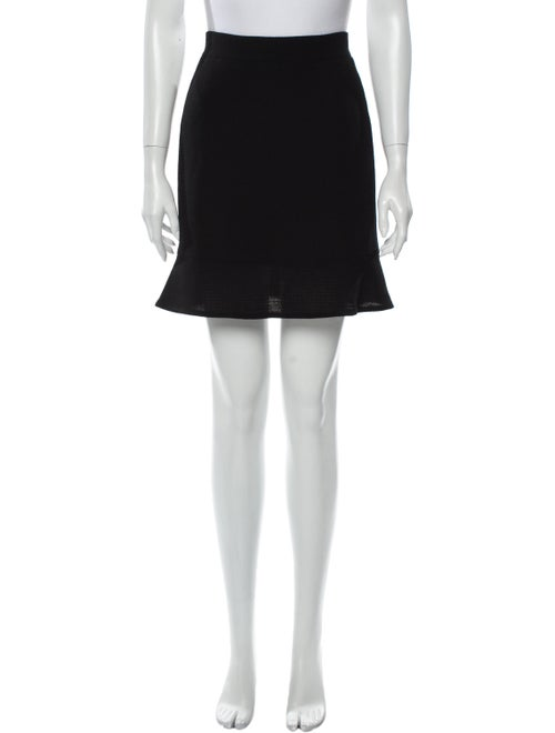 Chanel Wool Mini Skirt Wool