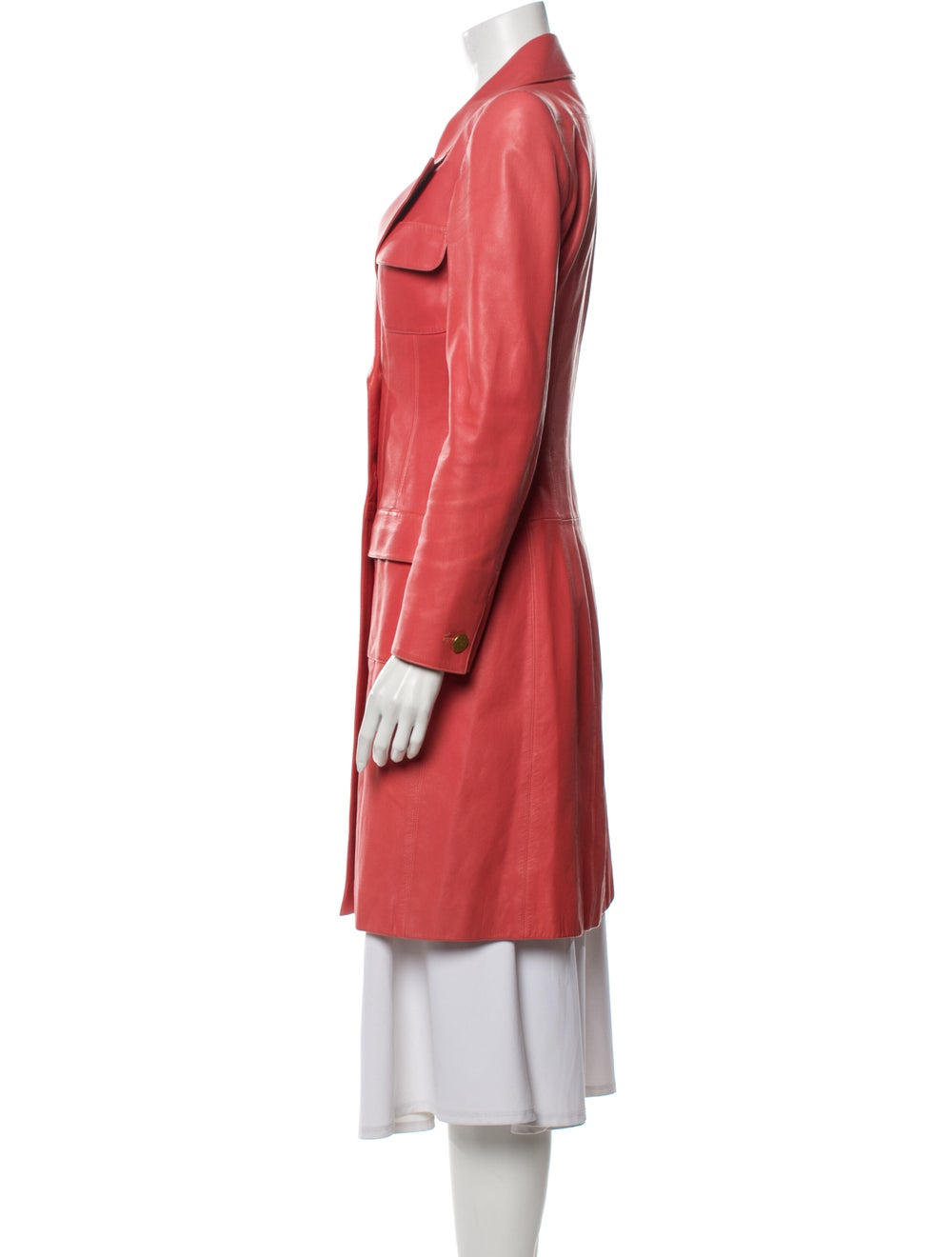 Chanel 2001 Trench Coat Pink - image 2