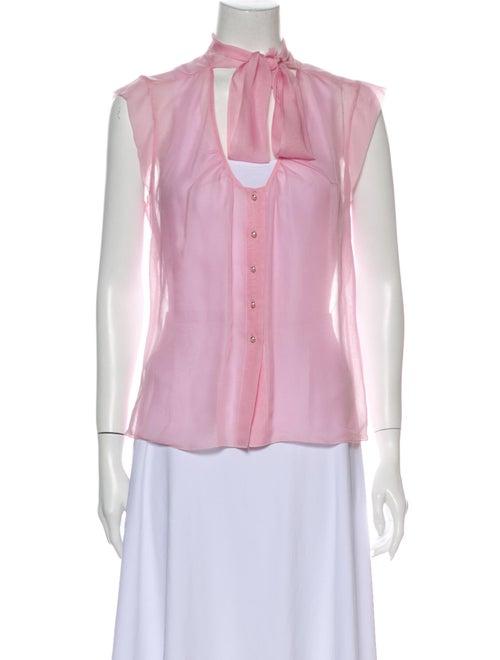 Chanel 2004 Silk Blouse Pink
