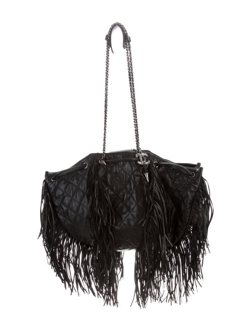 Chanel Western Baluchon Fringe Bag Black - image 1