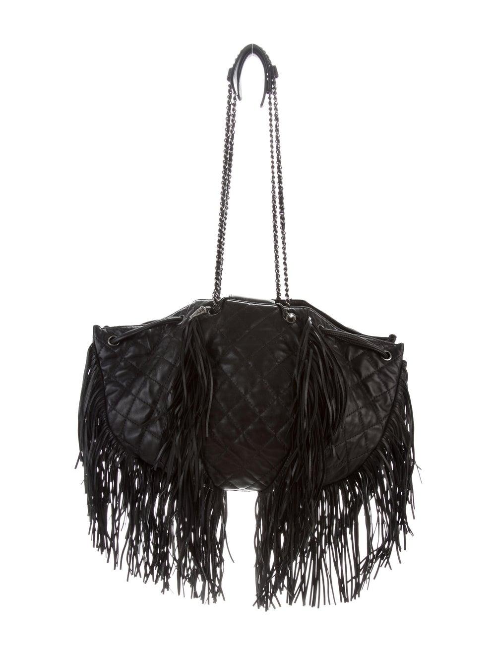 Chanel Western Baluchon Fringe Bag Black - image 4