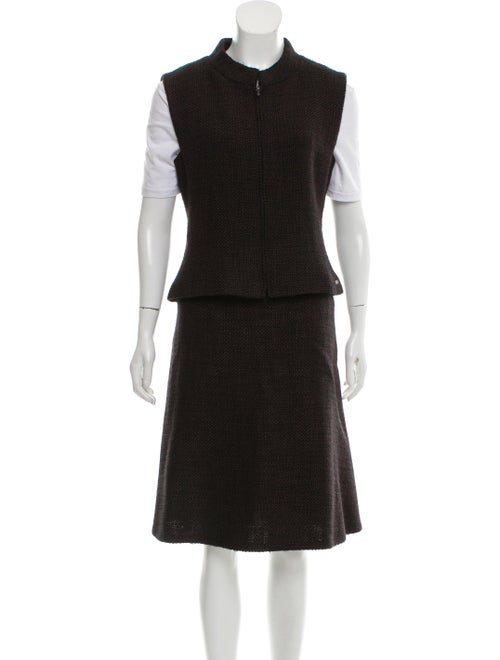 Chanel Wool Tweed Skirt Set wool