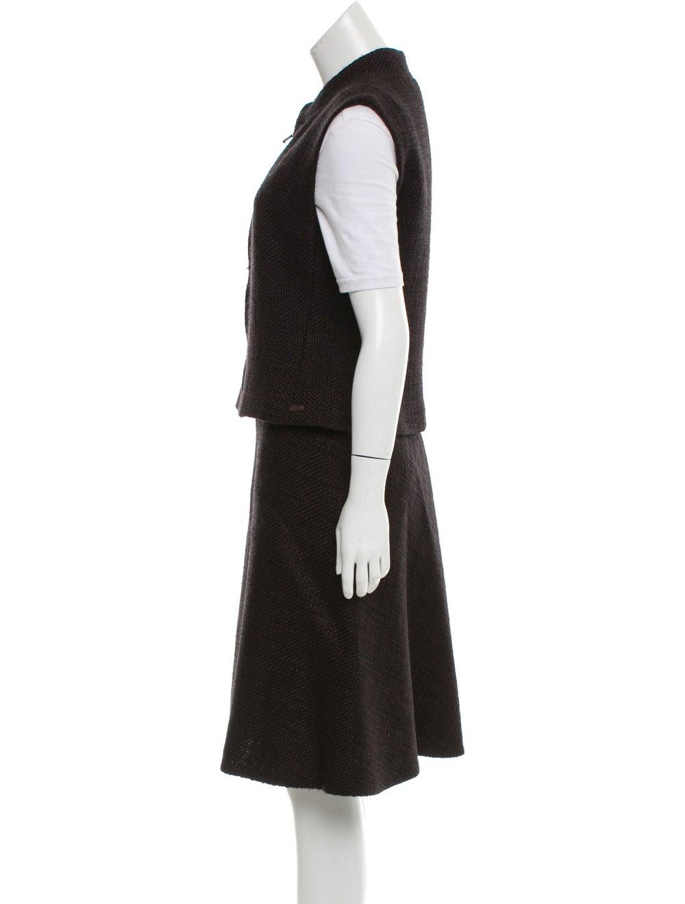 Chanel Wool Tweed Skirt Set wool - image 2