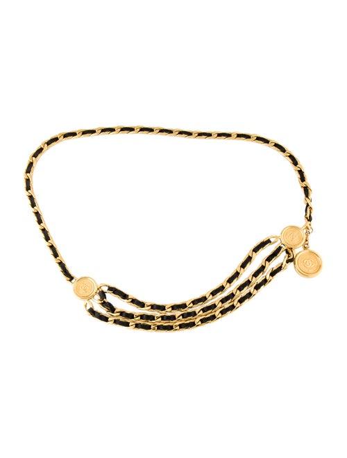 Chanel Vintage Chain-Link Medallion Belt Gold