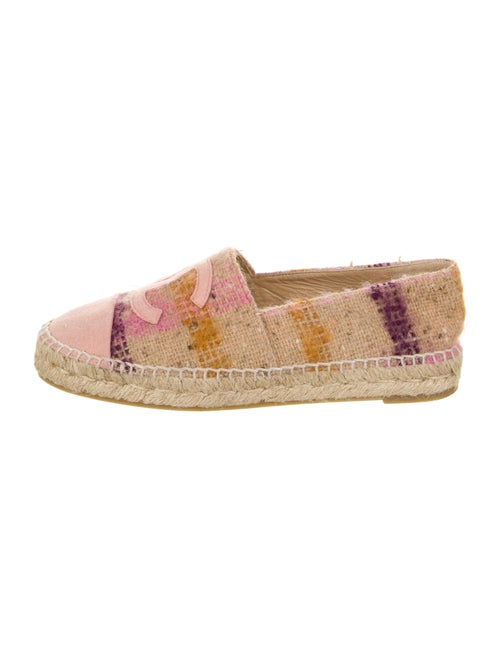 Chanel Plaid CC Espadrilles Interlocking CC Logo E
