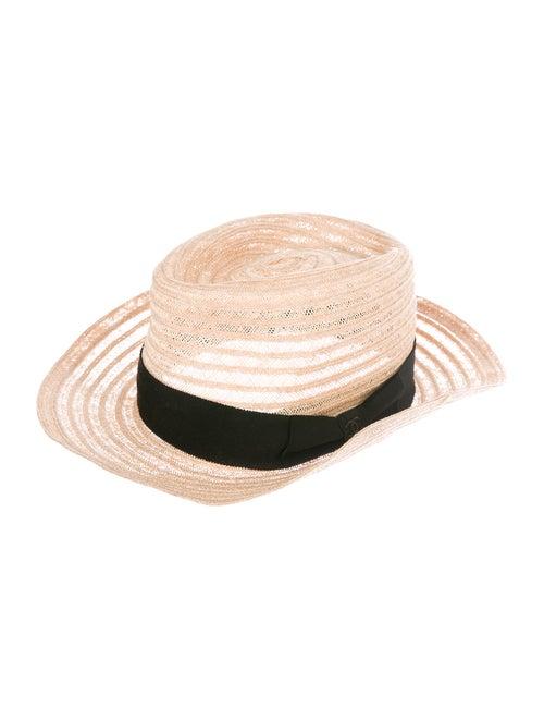 Chanel CC Straw Hat Tan