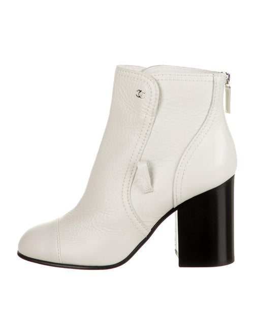 Chanel Leather Boots White