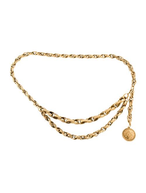 Chanel Vintage Medallion Chain-Link Belt Gold