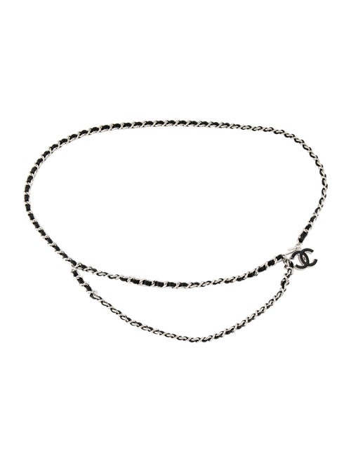 Chanel CC Chain-Link Belt Silver