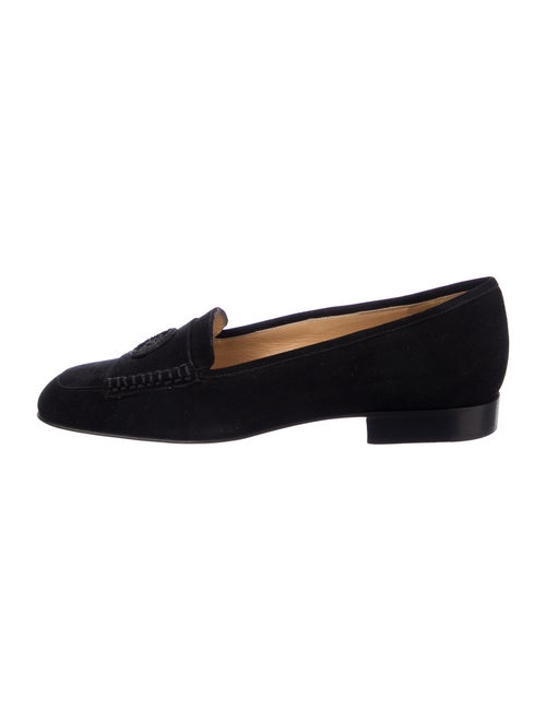 Chanel Suede Loafers Black