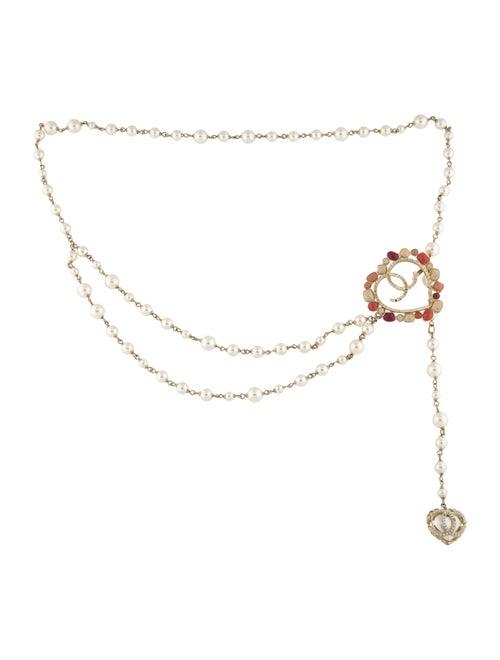 Chanel Heart Chain-Link Waist Belt Gold