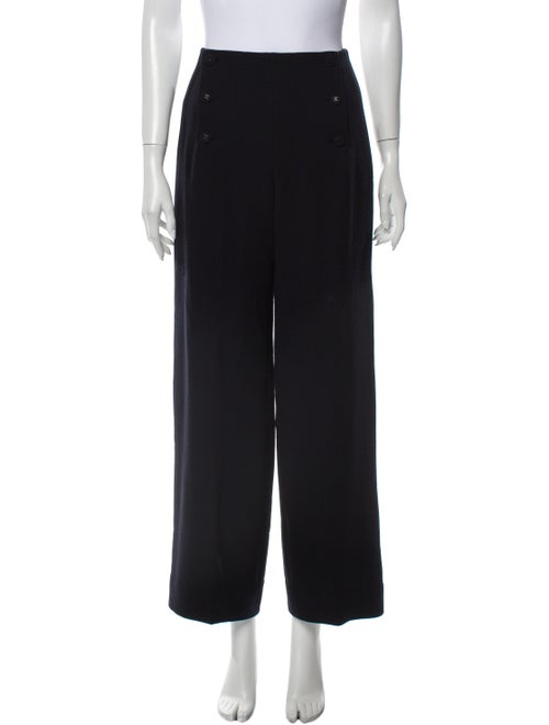 Chanel 1997 Wide Leg Pants Blue