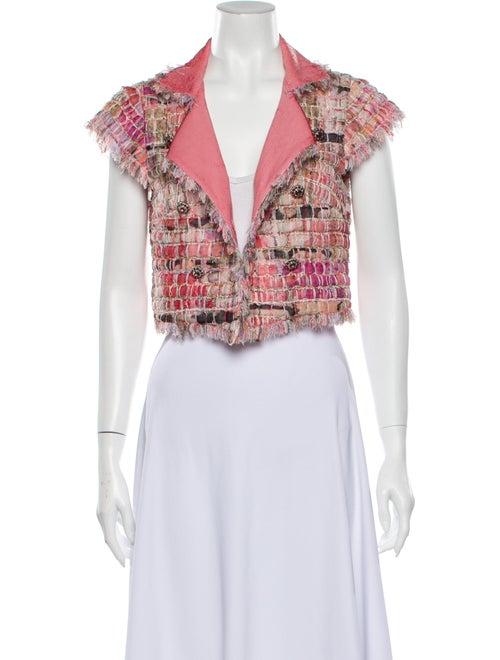 Chanel 2010 Cropped Fantasy Tweed Jacket Jacket Pi