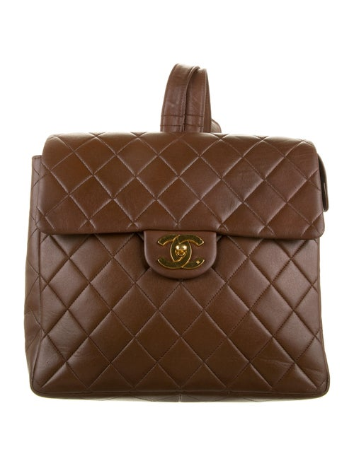Chanel Vintage Classic Flap Backpack Brown