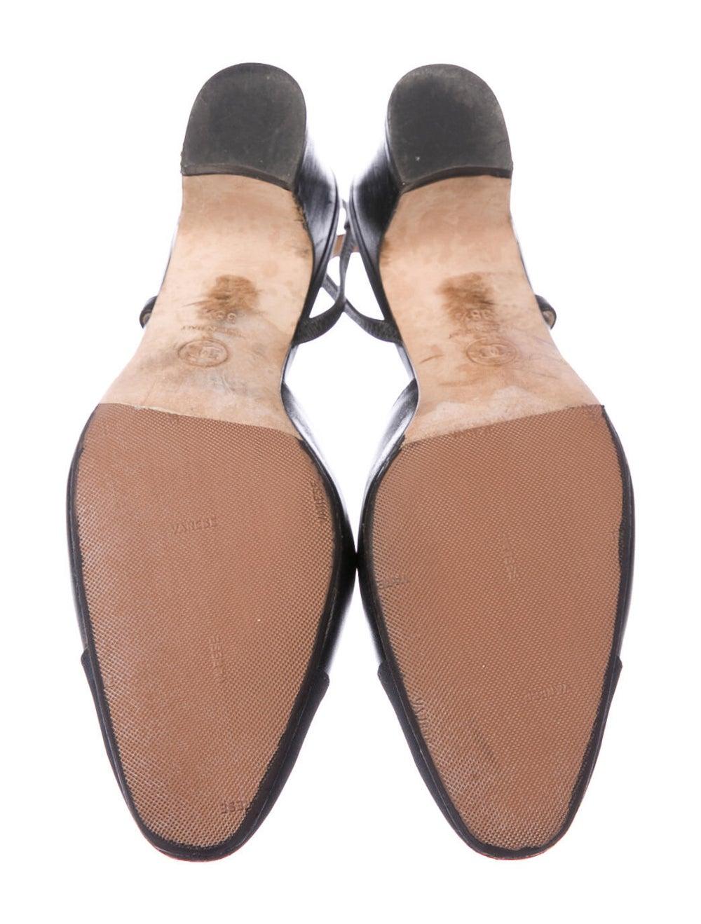 Chanel CC Cap-Toe Slingback Pumps Leather Slingba… - image 5