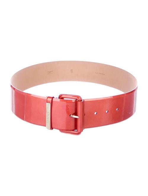 Chanel Patent Leather Belt Orange
