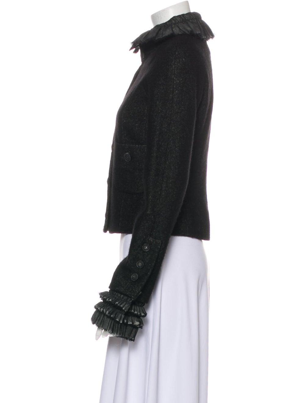 Chanel 2013 Linen Jacket Black - image 2